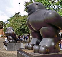 Esculturas de los pájaros de Fernando Botero. (Foto: W. Fernández)