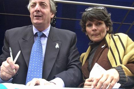 Kirchner y Quiroga, una de las raras fotos juntos. | Noticias