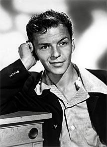 Frank Sinatra, de joven.