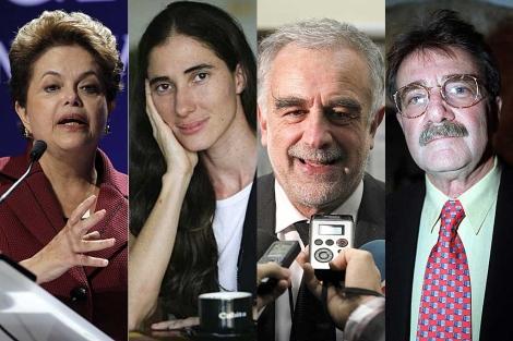 Dilma Rousseff, Yoani Sánchez, Luis Moreno Ocampo y Teodoro Petkoff.