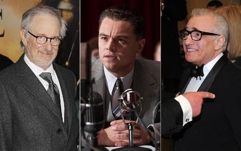 Steven Spielberg, Leonardo Dicarpio y Martin Scorsese.