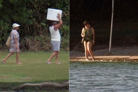 Lula y su mujer, en sus vacaciones de fin de año de 2009, y Dilma, el pasado lunes.