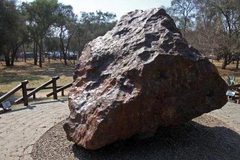 El meteorito objeto de la polémica.| Afp