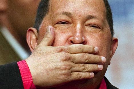 El presidente venezolano, Hugo Chávez, en Caracas. | Afp