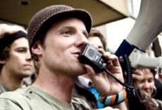 Rusell, en una imagen del vídeo.