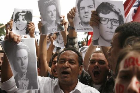 Manifestación por los desaparecidos en la dictadura el pasado marzo en Rio. | Efe