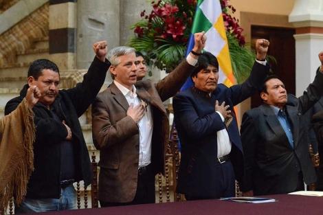 El presidente de Bolivia, Evo Morales, en el Palacio de Gobierno de La Paz. | Efe