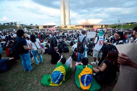 Concentración ciudadana en Brasilia. | Afp