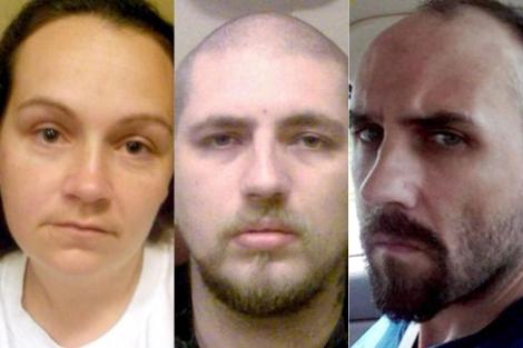 Imagen de los tres detenidos por retener a la discapacitada. | Afp