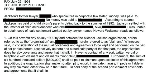 Extracto de uno de los documentos del FBI. | 'Sunday People'