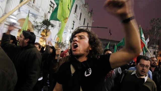 Protestas en las calles de Lima. | Reuters