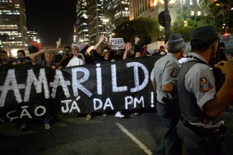 Imagen de las protestas por la desaparición de Amarildo. | Afp