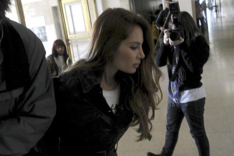 Angie Sanclemente en un tribunal de Buenos Aires en 2011.| Efe