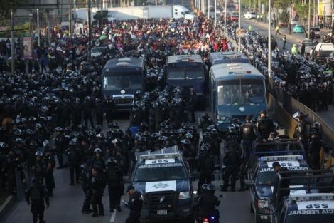 La policía ha tomado parte de la capital donde se desarrollaba la manifestación | Efe
