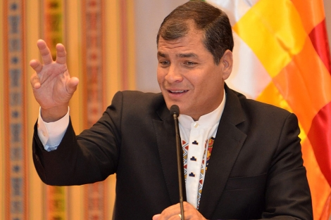 Rafael Correa. | Foto: Efe