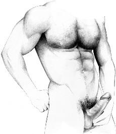 hombres con los penes afuera: