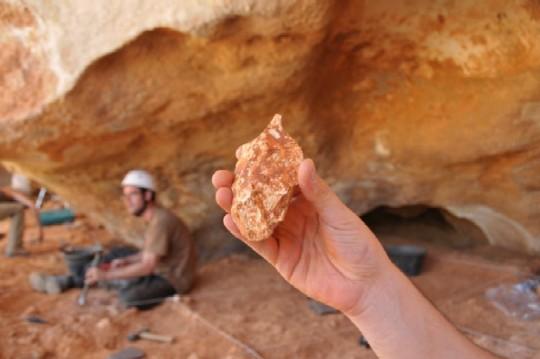 S�lex descubierto en Galer�a (Atapuerca)
