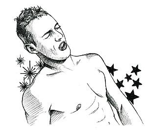 Los muchachos desnudos con un pequeño miembro