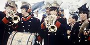 Los Beatles en el filme 'Help'. (Foto: El Mundo)