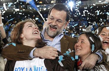 (El líder popular bautiza a su niña en Valencia / EFE).