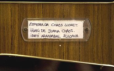 Placa del buzón donde residirá De Juana Chaos. (Foto: Justy)