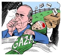 'Sueño de Olmert', de C. Latuff.