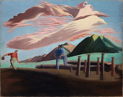 'Jugando a los bolos en San Bartolomé', de José María de Ucelay (1903 - 1979). | Museo Bellas Artes de Bilbao