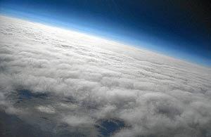 Imagen de la estratosfera captada por estudiantes de Barcelona. | El Mundo
