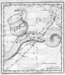 Mapa realizado por Messier con sus observaciones del Halley. | Cortesía Dr. Henk Bril. www.astrobril.nl