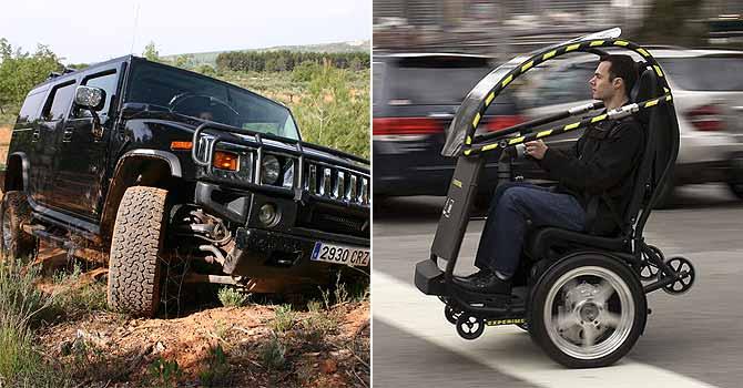 Un Hummer y un PUMA. | Fotos: EL MUNDO y Reuters