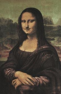 'La Mona Lisa' según Marcel Duchamp.