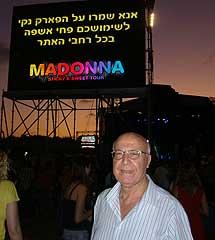 El veterano Ido vio por fin a Madonna.  S. E.
