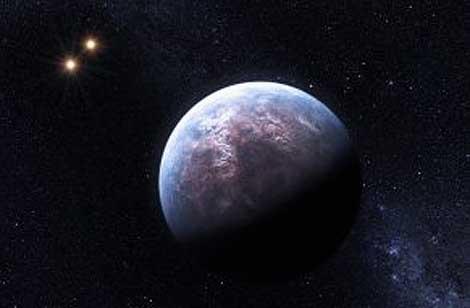Ilustración de un exoplaneta cerca de la estrella Gliese 667 C. | ESO.
