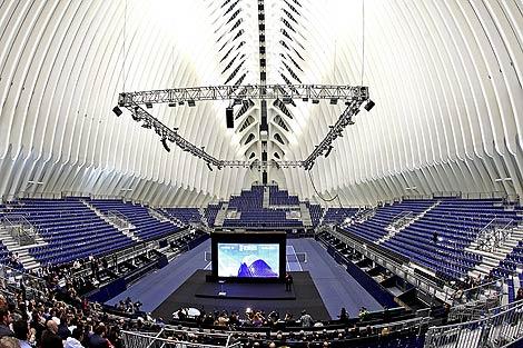 El interior del nuevo edificio de Santiago Calatrava. | Efe
