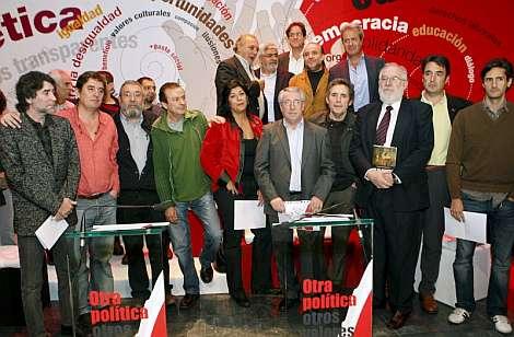 Representantes del mundo educativo, cultural y sindical. | Efe