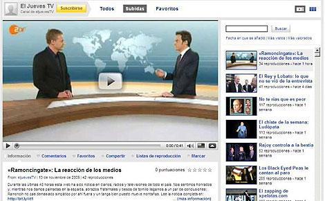 Imagen del canal de 'El Jueves', ya restablecido su servicio, en YouTube. (Foto: Europa Press)
