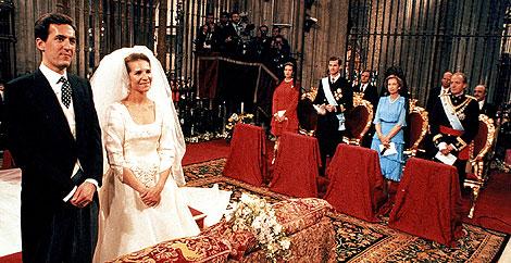 La Infanta Elena y Jaime de Marichalar se casaron en Sevilla el 18 de marzo de 1995. | G8