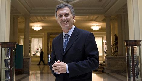 El alcalde de Buenos Aires, Mauricio Macri, en un hotel de Madrid. | Foto: Sergio González
