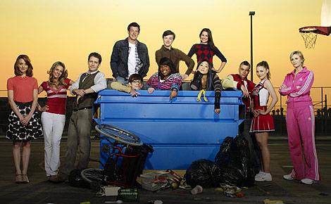 Protagonistas de 'Glee', la serie más nominada en la 67 edición de los Globos de Oro. (Foto: Fox)