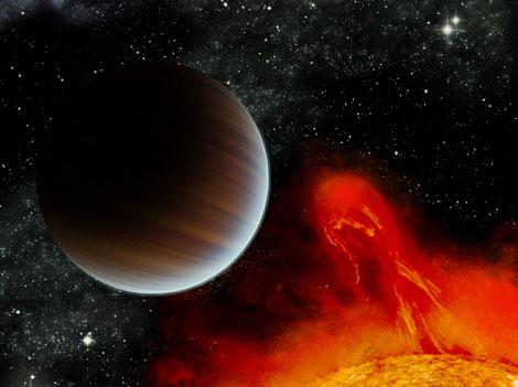 Recreación del planeta extrasolar BD+201790 b. | Hernán Obispo