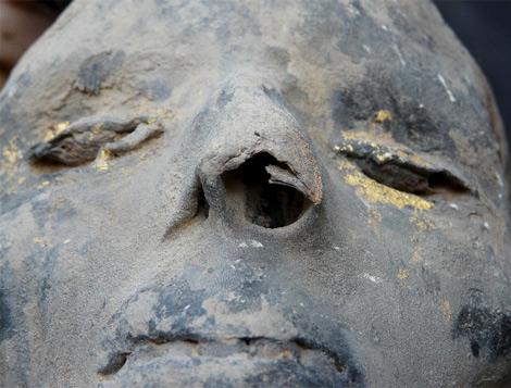 Rostro de una de las momias.| Efe