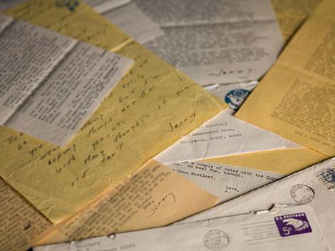 Cartas de Salinger a Mitchell, 1951-1993. | Foto: G. Haber (Morgan Library)