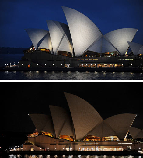 La Sydney Opera House, durante la 'Hora del Planeta'. | AfpHouse