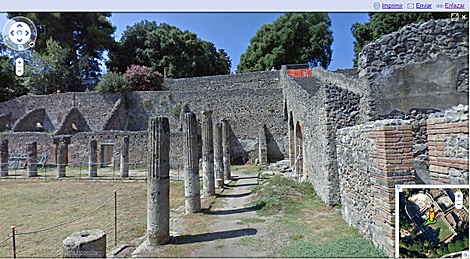Pompeya en la aplicación 'Street View'. | El Mundo