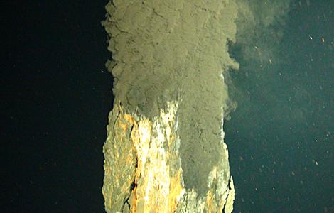 Primera imagen tomada de la 'fumarola negra'. | National  Oceanography Centre