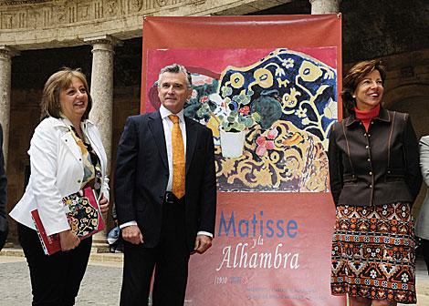María del Mar Villafranca, Paulino Plata y Soledad López, en el