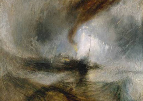 """Snow Storm-Steam-Boat off a Harbour's Mouth"", de Turner (1842)"