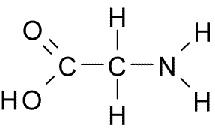 Fórmula de la glicina.
