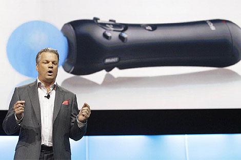 Peter Dille durante la presentación de Move en el E3. | M.Anzouni