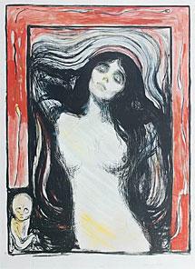El grabado de Munch subastado. | Bonhams